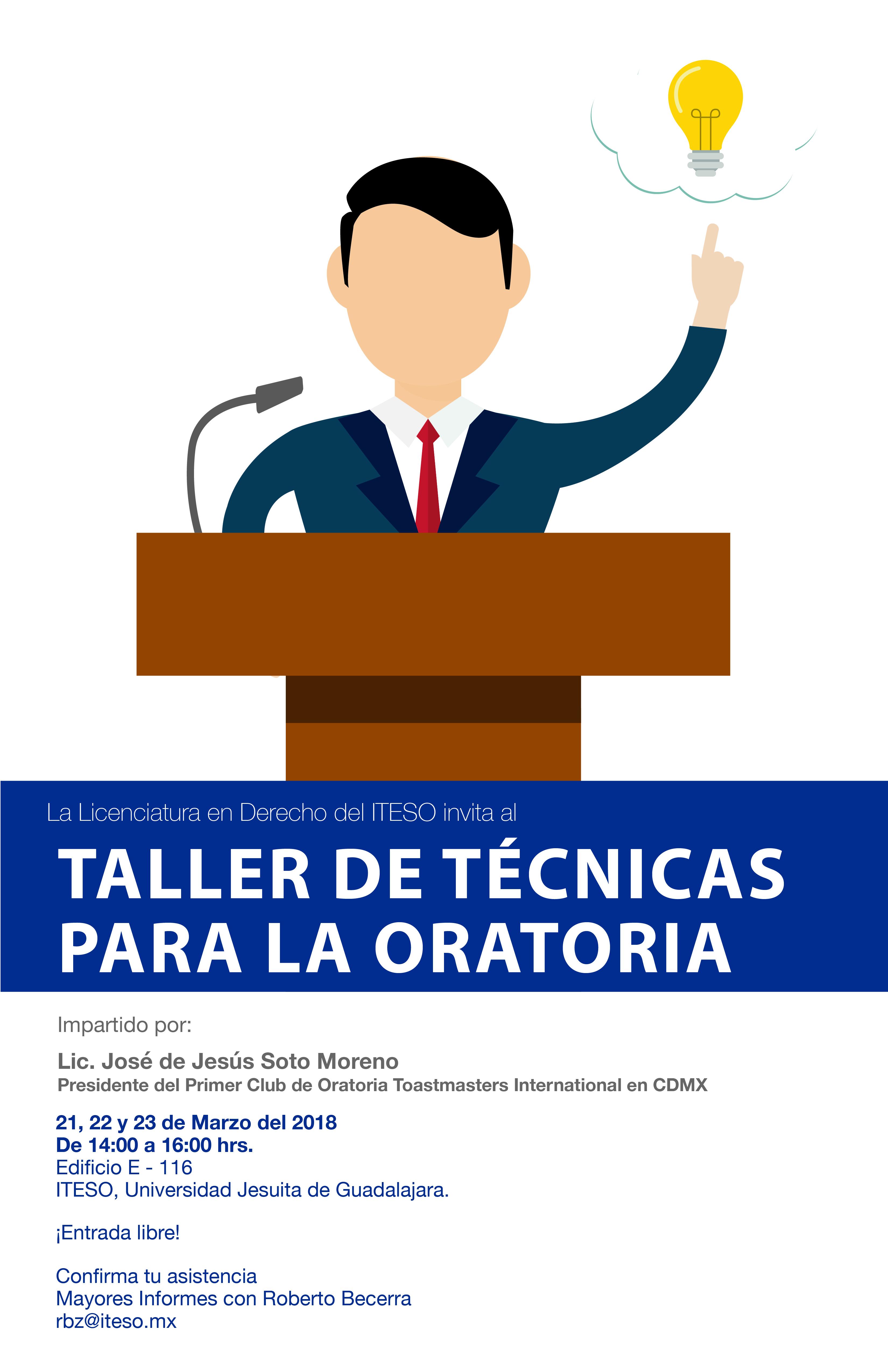 TALLER DE TÉCNICAS DE ORATORIA