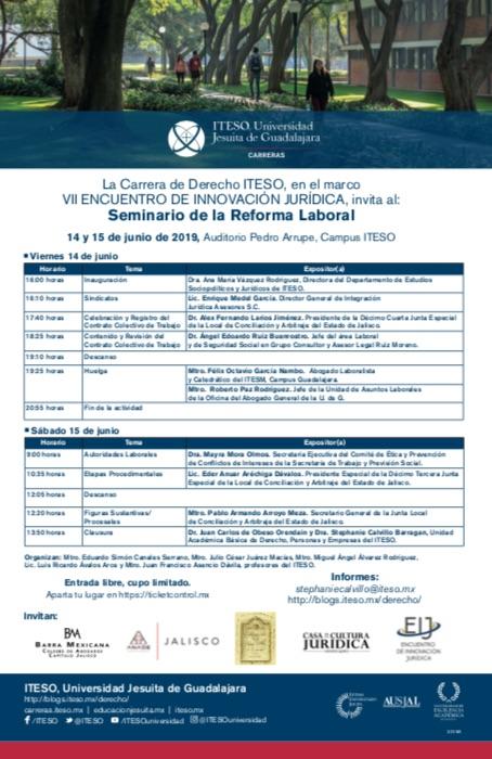 SEMINARIO DE LA REFORMA LABORAL